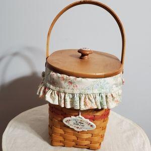 Longaberger 2001 Mother/'s Day VINTAGE BLOSSOMS Basket